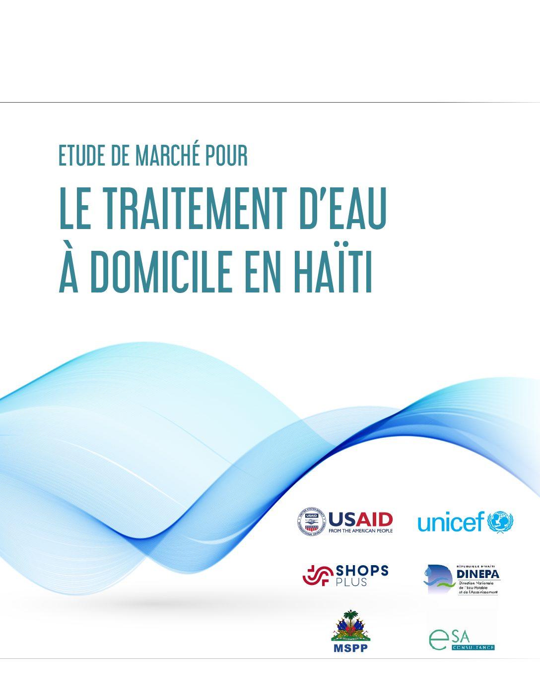Étude de marché pour le traitement d'eau à domicile en Haïti