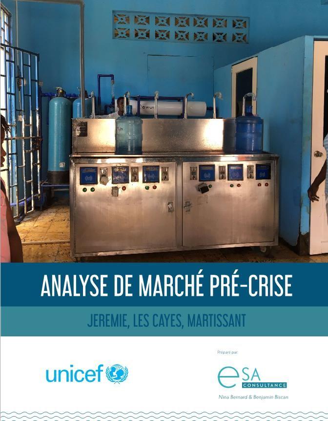 ANALYSE DE MARCHE PRE-CRISE : JEREMIE, LES CAYES, MARTISSANT